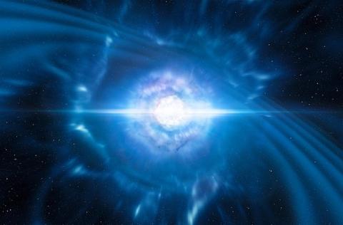 Artist's impression of merging neutron stars by ESO/L. Calçada/M. Kornmesser (CC BY 4.0)